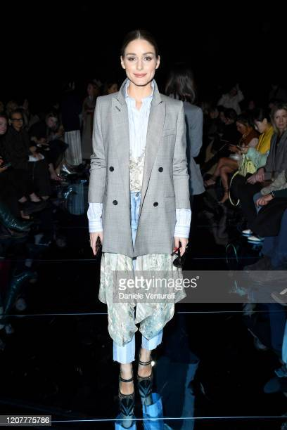 Olivia Palermo attends the Sportmax show during Milan Fashion Week Fall/Winter 2020/2021 on February 21, 2020 in Milan, Italy.