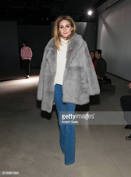 Olivia Palermo attends the Tibi fashion show during Fall 2016 New York Fashion Week on February 13 2016 in New York City