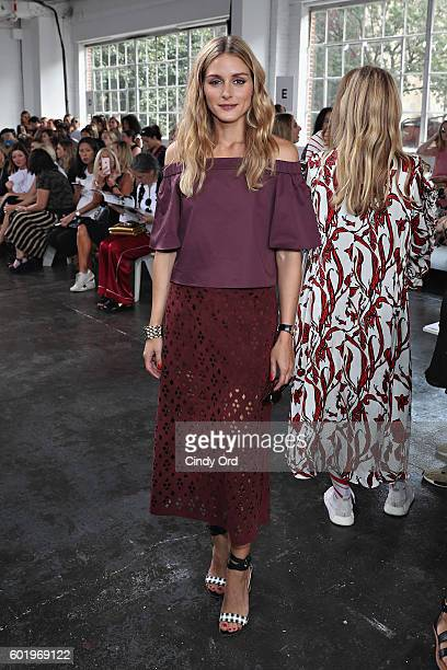 Olivia Palermo attends the Tibi fashion show during New York Fashion Week at Industria Studios on September 10 2016 in New York City