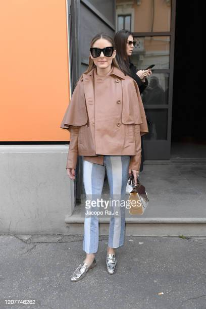 Olivia Palermo attends the Tod's show at Milan Fashion Week Autumn/Winter 2020/21 on February 21, 2020 in Milan, Italy.
