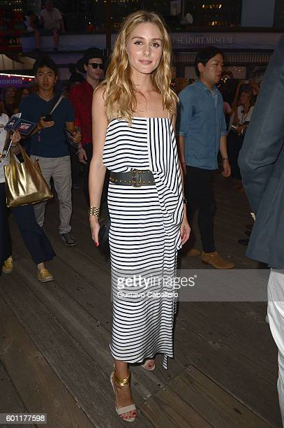 Olivia Palermo attends the #TOMMYNOW Women's Fashion Show during New York Fashion Week at Pier 16 on September 9 2016 in New York City