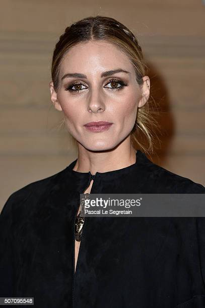 Olivia Palermo attends the Valentino Spring Summer 2016 show as part of Paris Fashion Week on January 27 2016 in Paris France