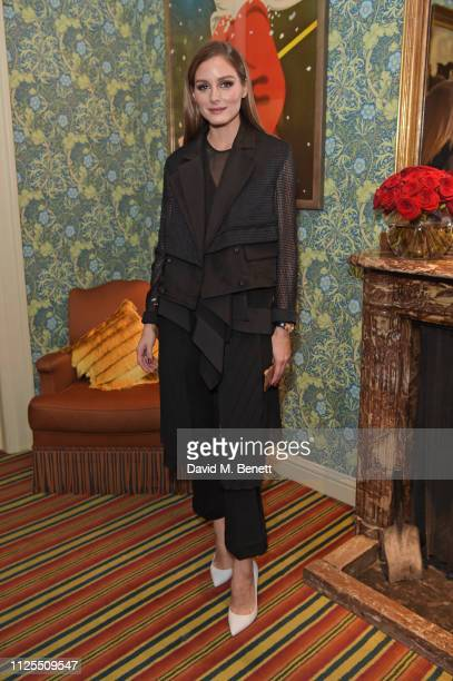 Olivia Palermo attends the Victoria Beckham x YouTube Fashion Beauty after party at London Fashion Week hosted by Derek Blasberg David Beckham at...