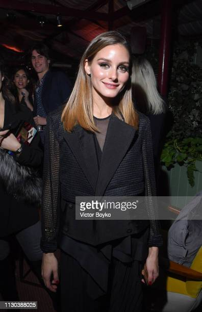 Olivia Palermo attends the Victoria Beckham x YouTube Fashion Beauty After Party at London Fashion Week hosted by Derek Blasberg and David Beckham at...