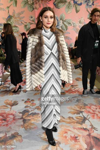 Olivia Palermo attends the Zimmermann fashion show during New York Fashion Week The Shows at Gallery I at Spring Studios on February 12 2018 in New...