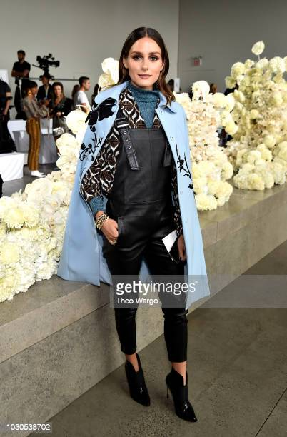 Olivia Palermo attends the Zimmermann front row during New York Fashion Week The Shows at Gallery I at Spring Studios on September 10 2018 in New...