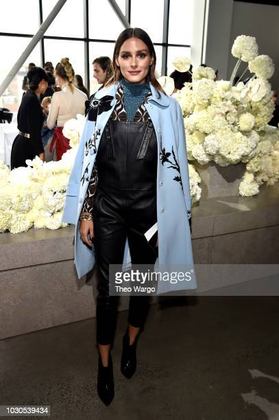 Olivia Palermo attends the Zimmermann front row during New York Fashion Week: The Shows at Gallery I at Spring Studios on September 10, 2018 in New...