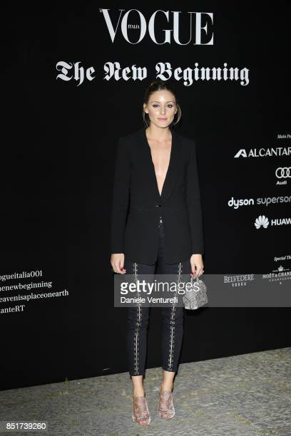 Olivia Palermo attends theVogue Italia 'The New Beginning' Party during Milan Fashion Week Spring/Summer 2018 on September 22 2017 in Milan Italy