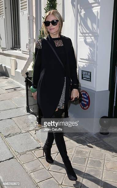 Olivia Palermo attends Viktor Rolf fashion show as part of the Paris Fashion Week Womenswear Spring/Summer 2015 on September 27 2014 in Paris France