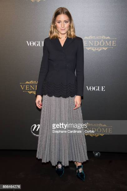 Olivia Palermo attends Vogue Party as part of the Paris Fashion Week Womenswear Spring/Summer 2018 at on October 1 2017 in Paris France