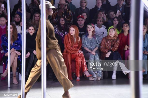 Olivia Palermo Bella Thorne and Dani Thorne attend the Sally LaPointe front row during New York Fashion Week The Shows at Gallery I at Spring Studios...