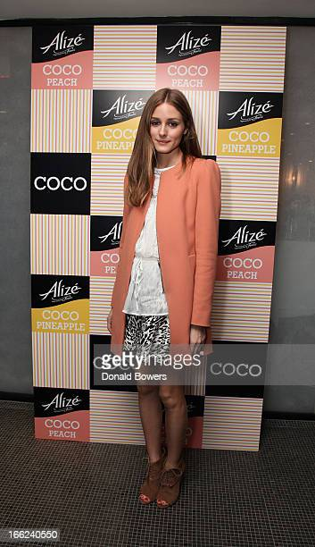 Olivia Palermo celebrates the launch of Alize COCO Pineapple and COCO Peach at Le Parker Meridien on April 10 2013 in New York City