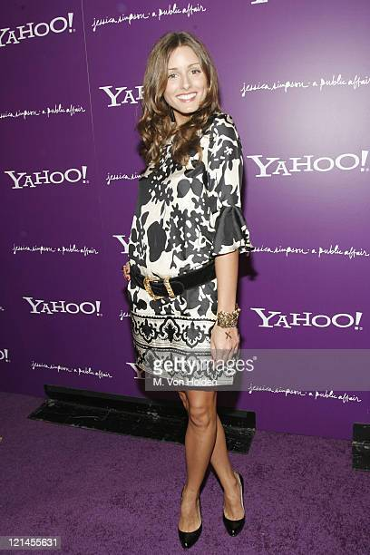 Olivia Palermo during Yahoo and Jessica Simpson Celebrate A Public Affair Arrivals at The Roxy in Manhattan New York United States
