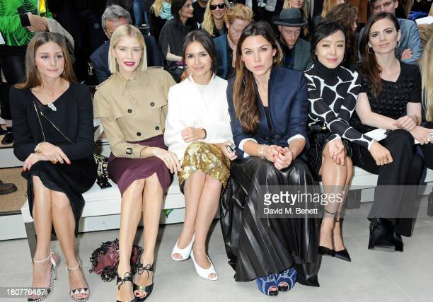Olivia Palermo Elena Perminova Miraoslava Duma guest Jeon Doyeon and Hayley Atwell attend the front row at Burberry Prorsum Womenswear Spring/Summer...