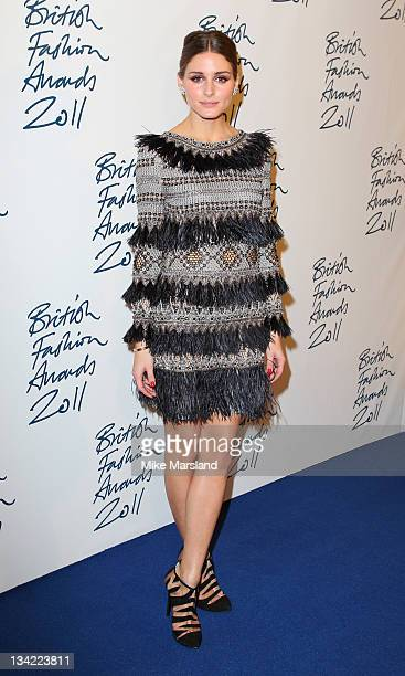 Olivia Palermo in the press room at the British Fashion Awards at The Savoy Hotel on November 28 2011 in London England