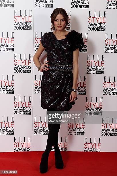 Olivia Palermo in the Winner's room at the ELLE Style Awards 2010 at the Grand Connaught Rooms on February 22, 2010 in London, England.