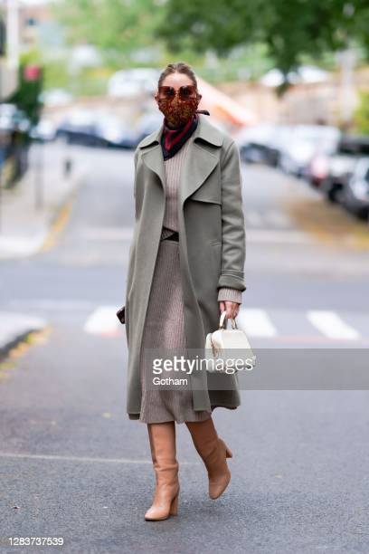 Olivia Palermo is see on November 03, 2020 in the Brooklyn borough of New York City.
