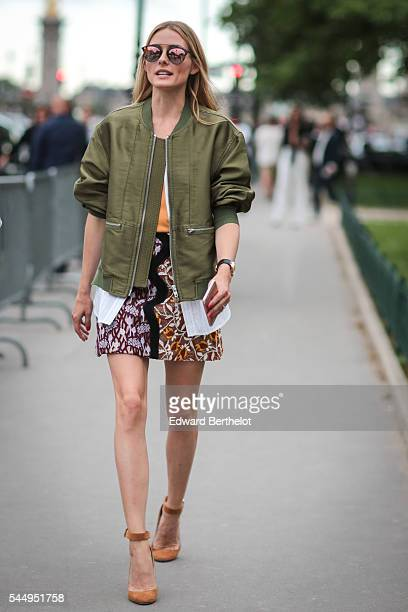 Olivia Palermo is seen after the Giambattista Valli show during Paris Fashion Week Haute Couture F/W 2016/2017 on July 4 2016 in Paris France