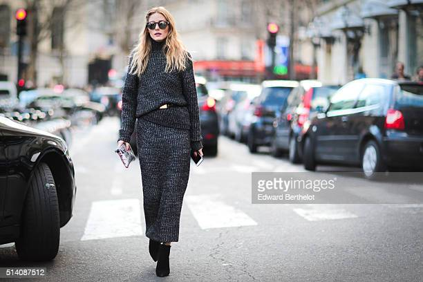 Olivia Palermo is seen after the Roland Mouret show during Paris Fashion Week Womenswear Fall Winter 2016/2017 on March 6 2016 in Paris France