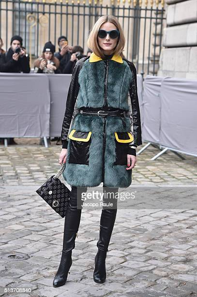 Olivia Palermo is seen arriving at Dior fashion show during Paris Fashion Week Womenswear Fall Winter 2016/2017 on March 4 2016 in Paris France