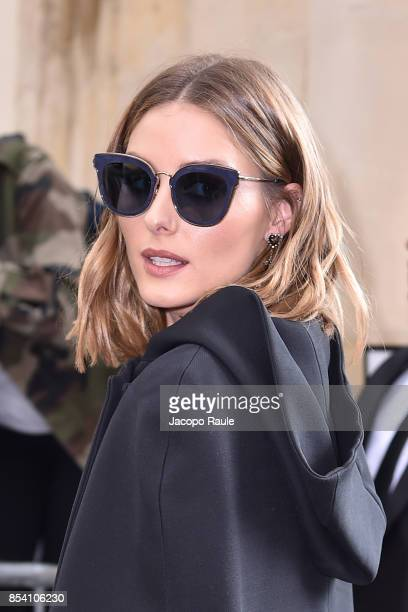 Olivia Palermo is seen arriving at Dior fashion show during Paris Fashion Week Womenswear Spring/Summer 2018 on September 26 2017 in Paris France