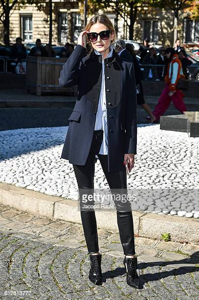 Olivia Palermo is seen arriving at Miu Miu Fashion show during Paris Fashion Week Spring/Summer 2017 on October 5 2016 in Paris France