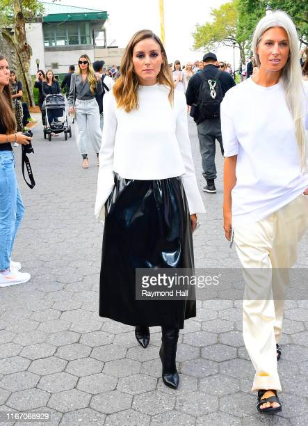 Olivia Palermo is seen arriving to Carolina Herrera fashion show during New York Fashion Week on September 9 2019 in New York City
