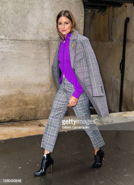 Olivia Palermo is seen arriving to Tibi SS19 fashion show during New York Fashion Week at 30 Wall Street on September 9 2018 in New York City