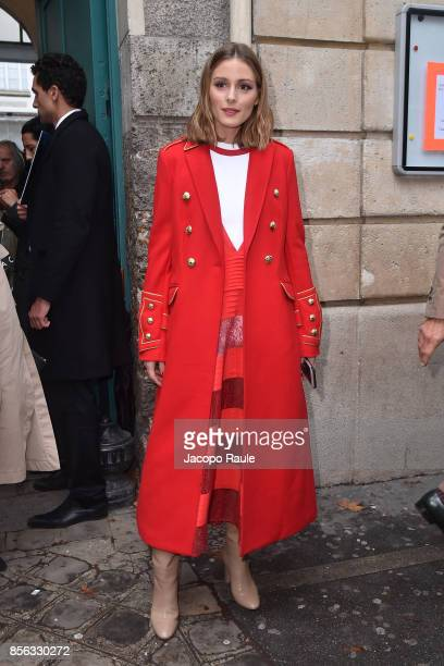 Olivia Palermo is seen arrivinga at Valentino show as part of the Paris Fashion Week Womenswear Spring/Summer 2018 on October 1 2017 in Paris France