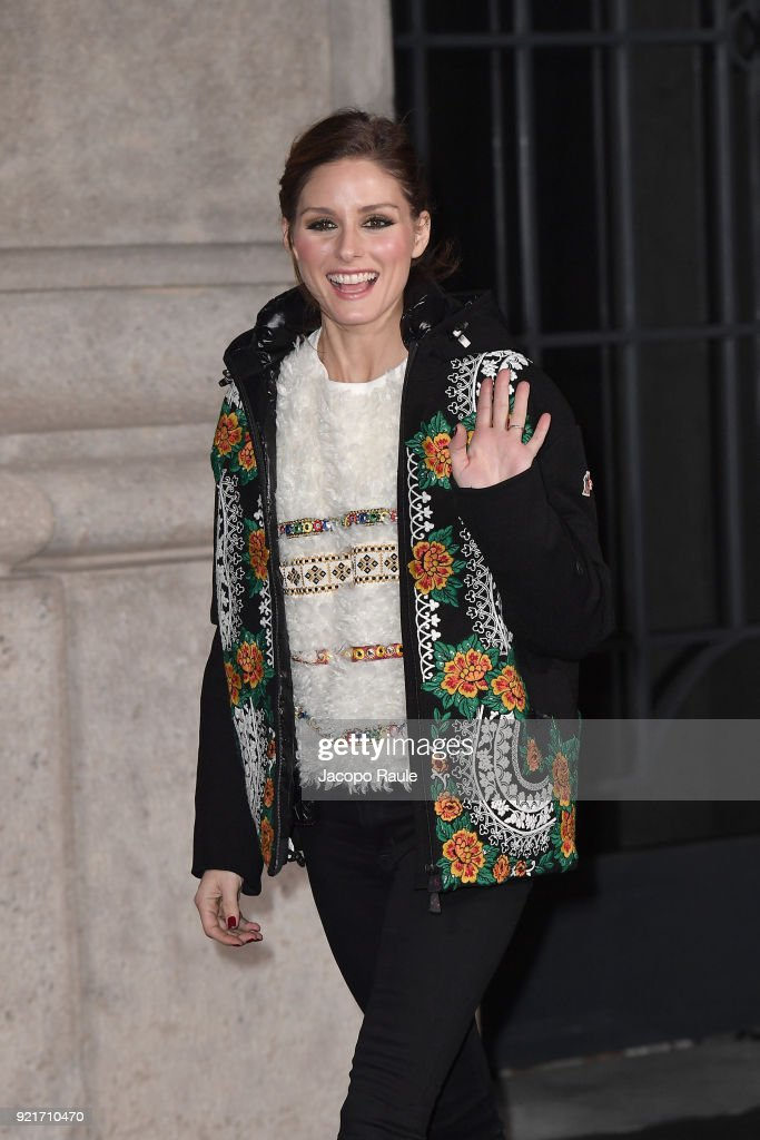 Olivia Palermo is seen at the Moncler Genius event during Milan Fashion Week Fall/Winter 2018/19 on February 20, 2018 in Milan, Italy.