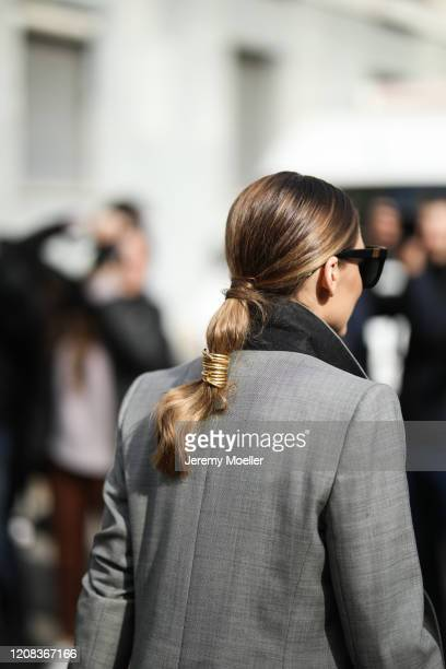 Olivia Palermo is seen before Etro during Milan Fashion Week Fall/Winter 20202021 on February 21 2020 in Milan Italy