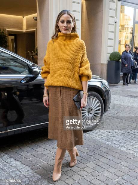 Olivia Palermo is seen during Milan Fashion Week Fall/Winter 2020-2021 on February 22, 2020 in Milan, Italy.
