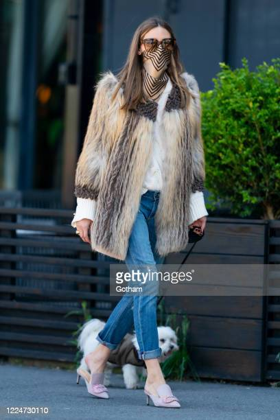 Olivia Palermo is seen in Brooklyn during the COVID-19 pandemic on on May 13, 2020 in New York City.