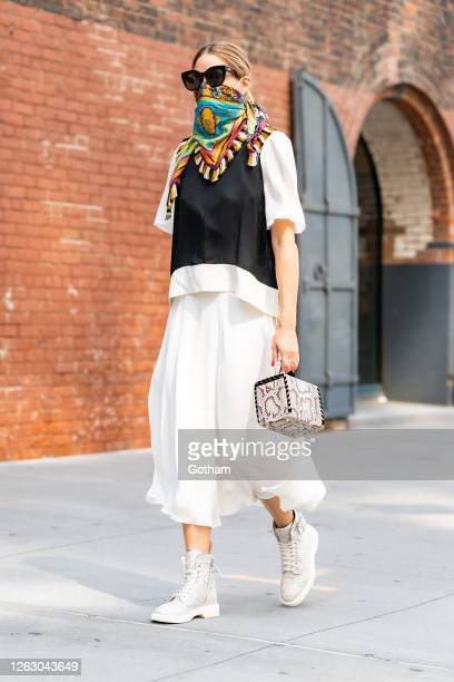 Olivia Palermo is seen in Brooklyn on July 31 2020 in New York City