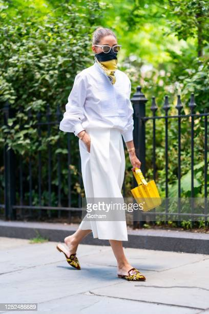 Olivia Palermo is seen in Brooklyn on June 25 2020 in New York City