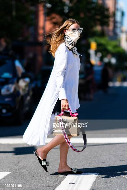 Olivia Palermo is seen in Chelsea on July 09, 2020 in New York City.