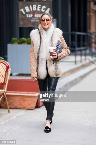 Olivia Palermo is seen in Tribeca on April 12 2018 in New York City