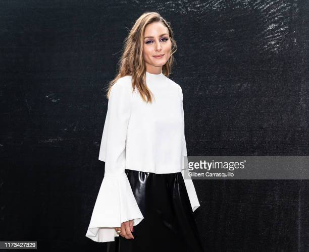 Olivia Palermo is seen leaving Carolina Herrera fashion show during New York Fashion Week on September 09 2019 in New York City