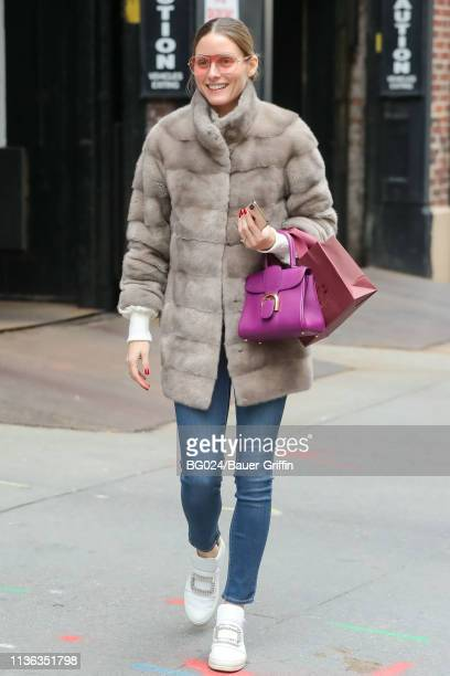 Olivia Palermo is seen on April 11, 2019 in New York City.