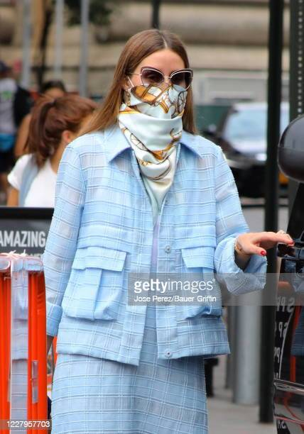 Olivia Palermo is seen on August 07, 2020 in New York City.