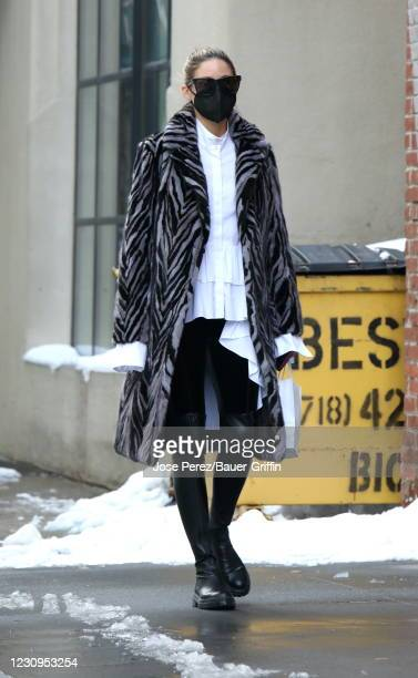 Olivia Palermo is seen on February 03, 2021 in New York City.