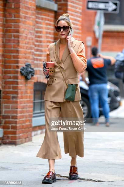 Olivia Palermo is seen on May 03, 2021 in New York City.