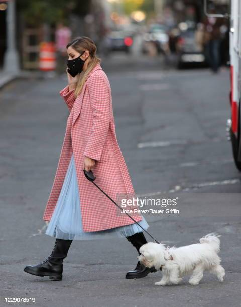 Olivia Palermo is seen on October 14 2020 in New York City