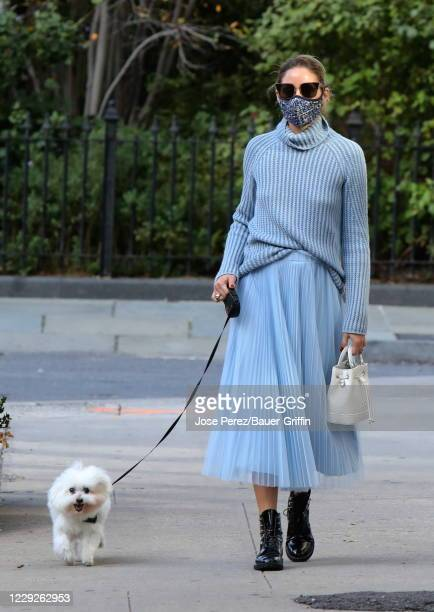 Olivia Palermo is seen on October 24 2020 in New York City