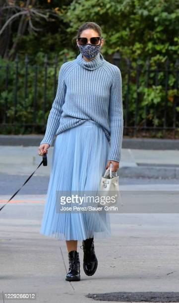 Olivia Palermo is seen on October 24, 2020 in New York City.