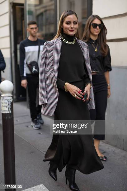 Olivia Palermo is seen on the street attending Paris Fashion Week on September 27, 2019 in Paris, France.