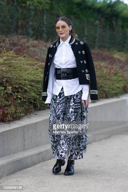 Olivia Palermo is seen on the street during Paris Fashion Week SS19 wearing Dior on September 24 2018 in Paris France