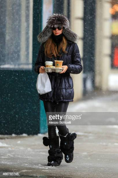 Olivia Palermo is seen out in Brooklyn on February 3 2014 in New York City
