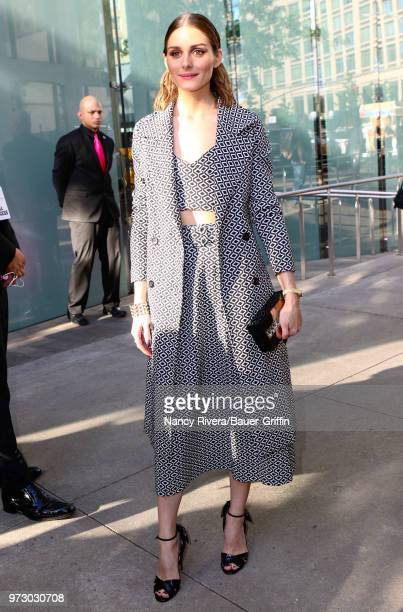 Olivia Palermo is seen outside 2018 Fragrance Foundation Awards at Alice Tully Hall at Lincoln Center on June 12 2018 in New York City