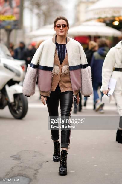 Olivia Palermo is seen outside Altuzarra during Paris Fashion Week Womenswear Fall/Winter 2018/2019 on March 3 2018 in Paris France